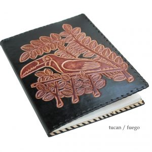 Book-Cover Leather // tucán - fuego (jy-E) -0