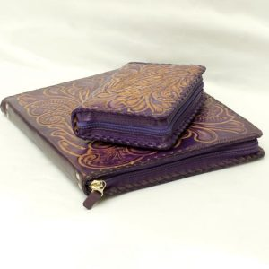 Set: bible cover + JWunFold (flor // lila - natural)-13894