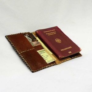 Leather Passport Wallet // vino-15574