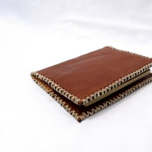 Leather Passport Wallet // choco-15584