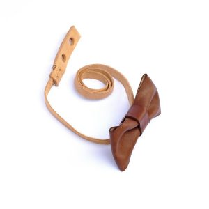 Leather Bow Tie // chocolate-15924