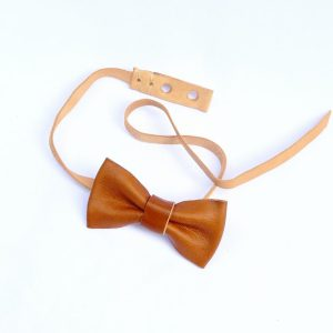 Leather Bow Tie // oiled-15846